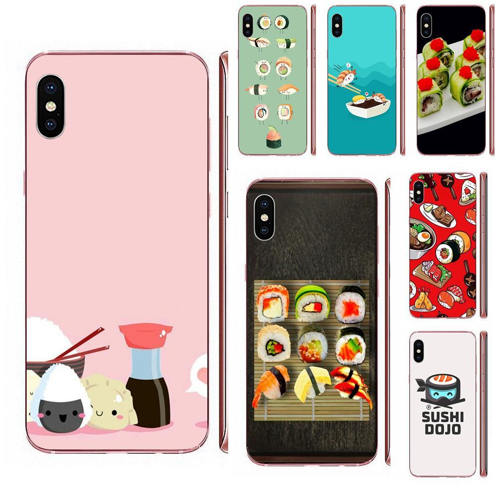 Miękka TPU pokrywa japoński kuchnia Sushi jedzenie dla Galaxy Alpha uwaga 10 Pro A10 A20 A20E A30 A40 A50 A60 A70 A80 A90 M10 M20 M30 M40