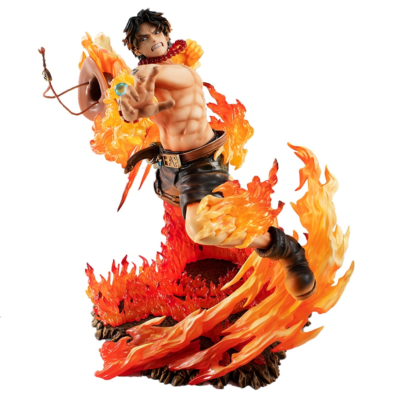 Ein Stück GK POP Feuer Faust Puma D. Ace Anime Action Figure Modell 25cm PVC Statue Sammlung Spielzeug Desktop dekoration Figma