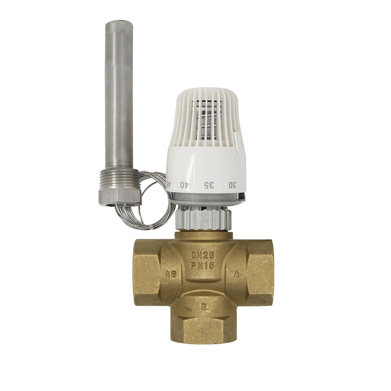 نظام تدفئة أرضية مع منظم حرارة ، 30-70 درجة ، صمام مبرد ثلاثي M30 * 1.5 ، DN25