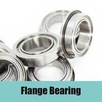 fr2 5zz flange bearing 3 175x7 938x3 571 mm abec 1 10pcs inch flanged fr2 5 z zz ball bearings