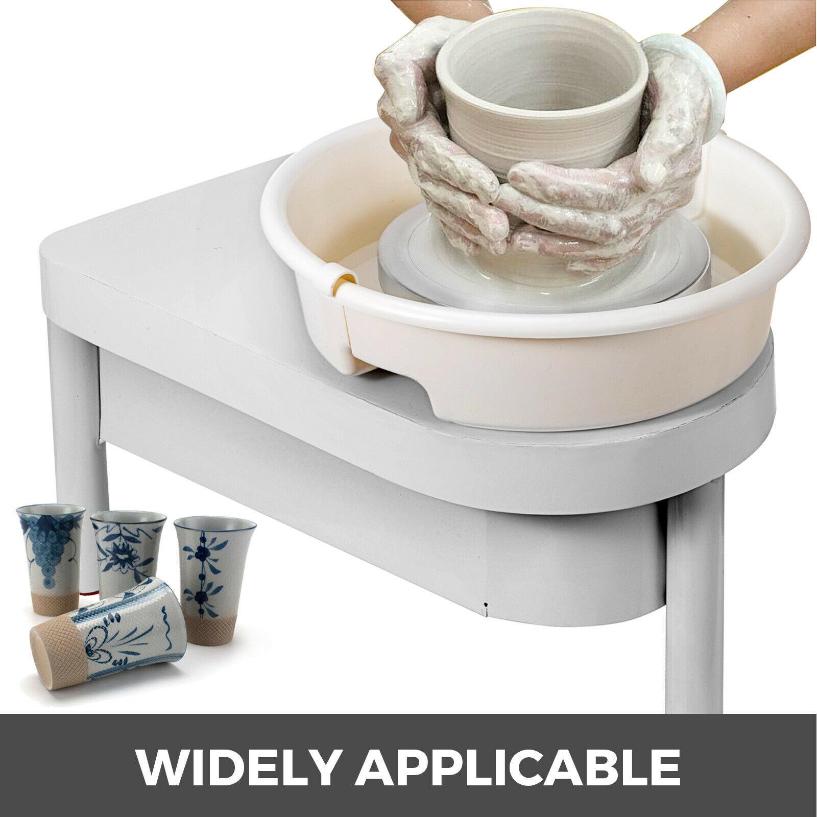 Keramik Rad 25CM Keramik Forming Maschine 350W Elektrische Keramik Rad mit Fuß Pedal und Abnehmbare Becken Einfache Reinigung