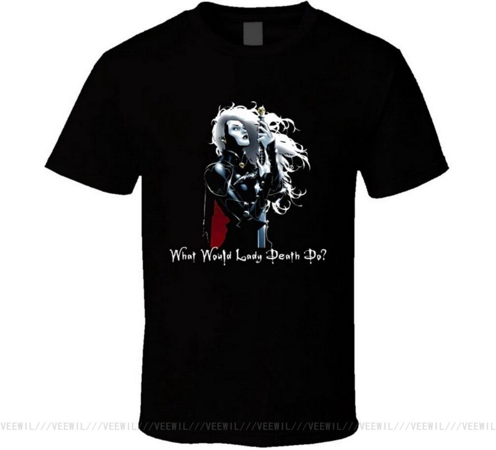 Wwldd Lady Death Tops Tee T Shirt T-Shirt Streetwear Casual For Men Women Tshirt S-5XL Size 11 Color