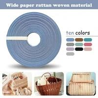 20 meter bendable straw rope rattan paper yarn cord for crocheting bag basket diy craft handmade pape rattan woven material