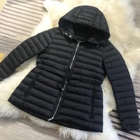 2020 womens down jacket with drawstring waist is light new thin autumn winter fashion warm outwear slim casual coat parka
