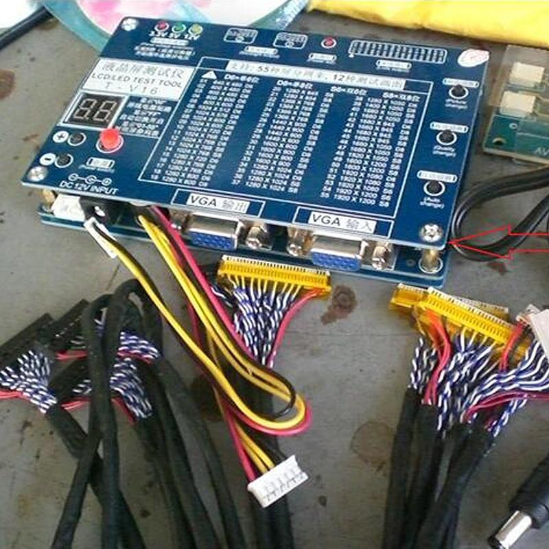 محمول التلفزيون/LCD/LED اختبار أداة كيت LCD لوحة اختبار دعم 7 -55 بوصة LVDS واجهة