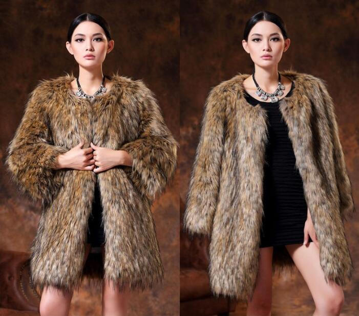 Autumn faux mink leather jacket womens warm Medium length fur leather coat women slim jackets jaqueta de couro fashion B110 enlarge