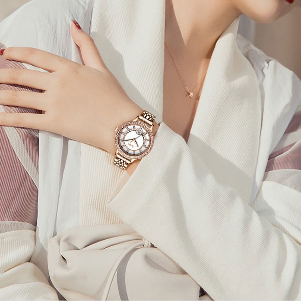 SUNKTA Luxury Brand Woman Bracelet Watch Women's Casual Waterproof Quartz Ladies Dress Watches Gifts Wife Clock relogio feminino enlarge