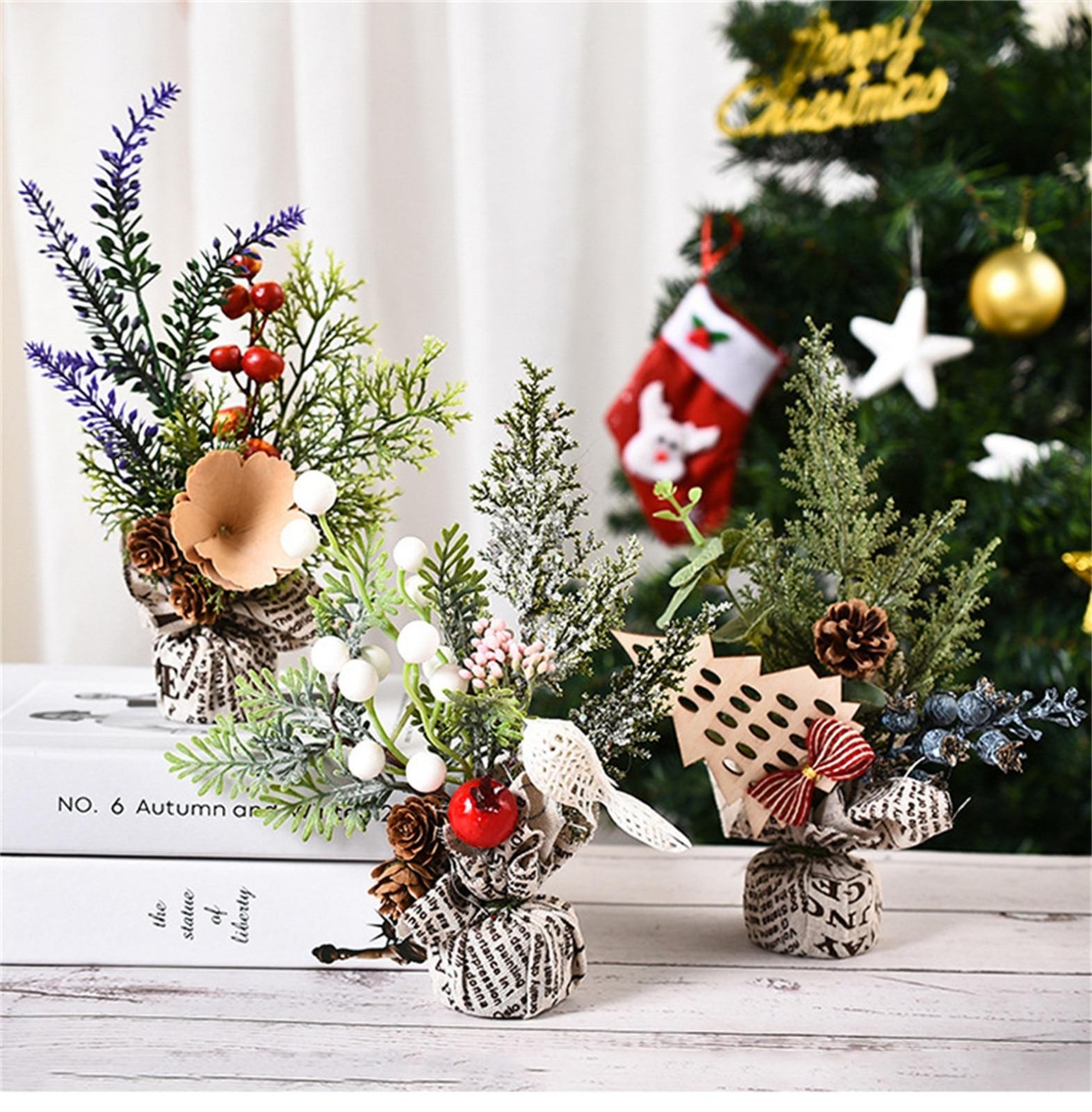 1 ud. Decoración de Navidad Mini Adornos de árbol de Navidad ventana árbol decoración Sep 23