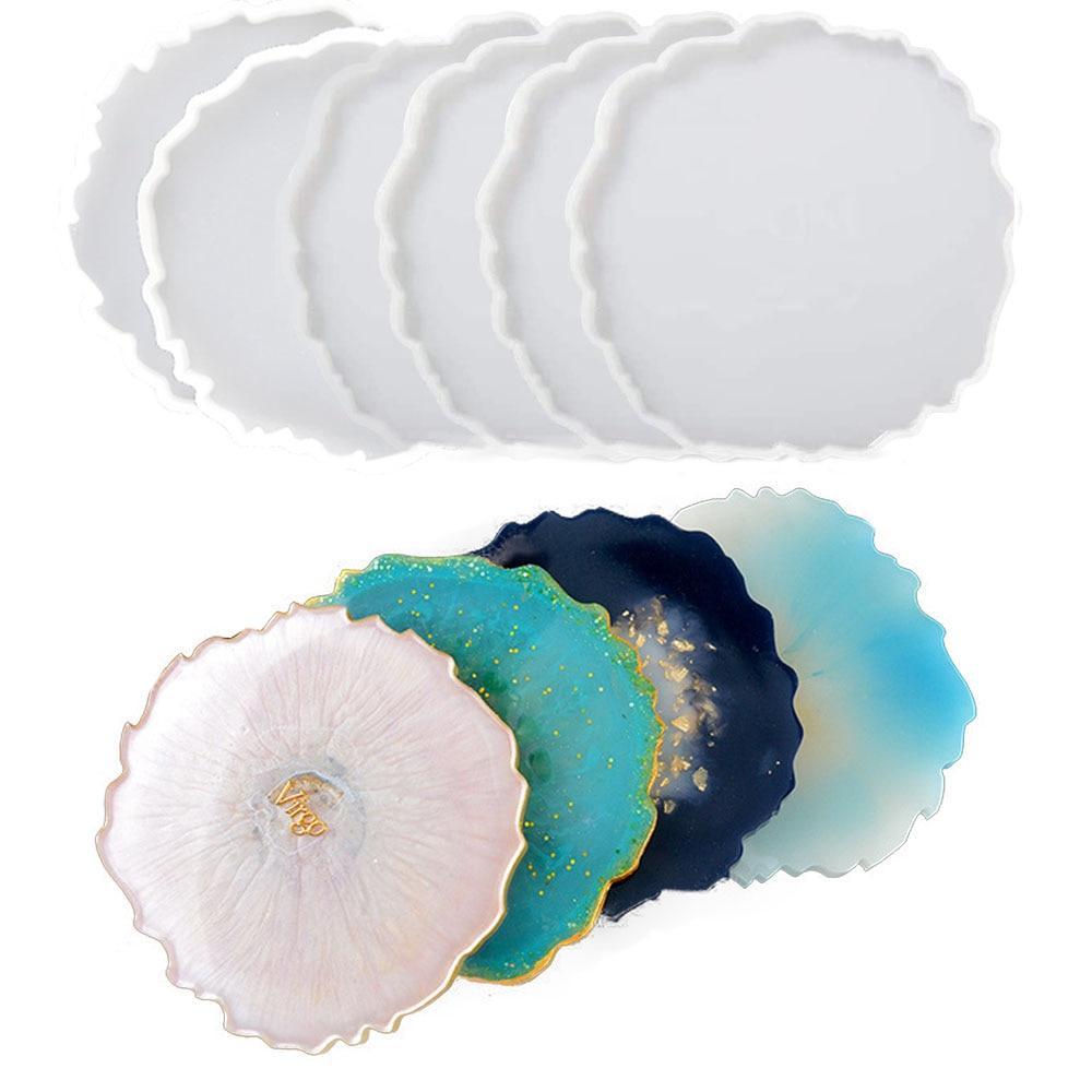 AliExpress - Irregular Coaster Silicone Resin Molds Coastera Epoxy Resin Casting Molds for DIY Making Wine Glass Coaster Tray Home Decoration