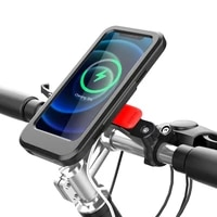 electric bike mobile phone holder waterproof wireless charging phone holder for 22 2 28 6mm handlebars universal cycling bracket