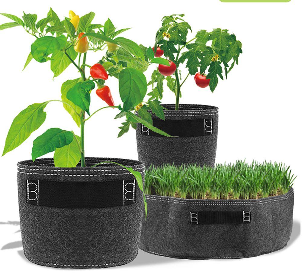 Горшки для выращивания цветов, нетканые садовые инструменты, 1-20 галлонов