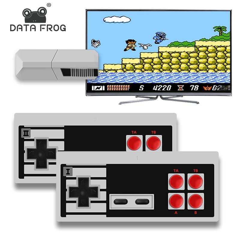 Data Frog TV Video Game Console 8 Bit Built-in 1700 NES Retro Games Potable Mini Wireless Controller AV/HD Output Dandy Prefix недорого