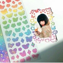 Gradient Laser Butterfly Sticker South Korea Ins Creative Simple Hand Account DIY Material Sticker Stationery
