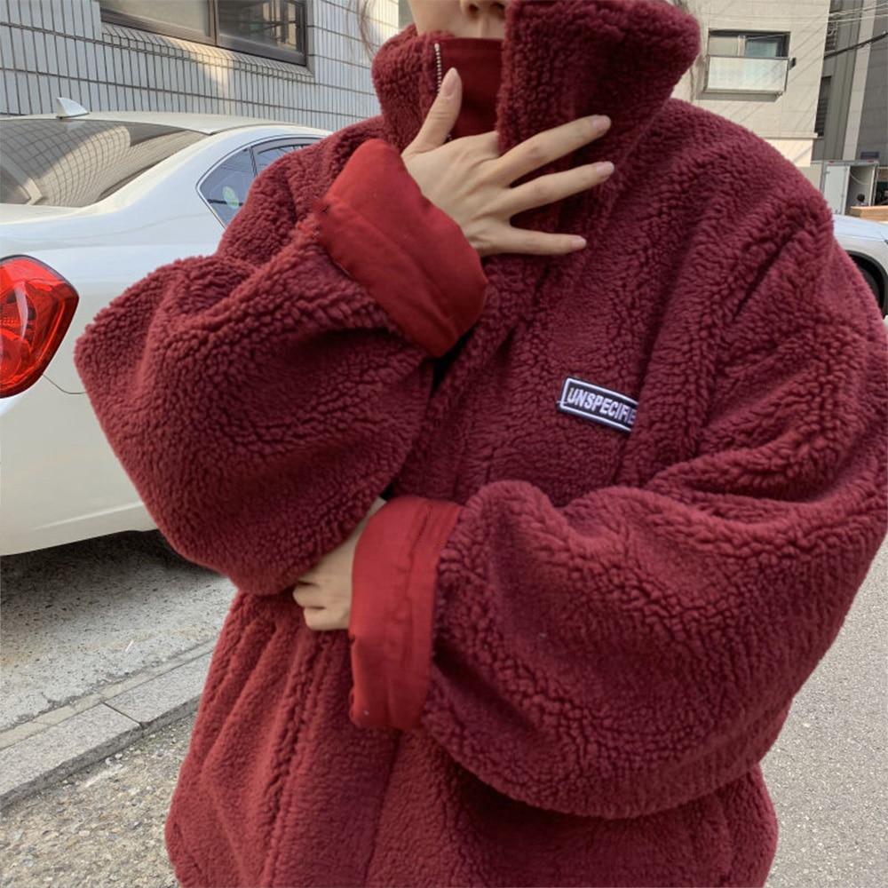 Зимняя женская двухсторонняя бархатная куртка из ягненка, Толстая теплая куртка, пальто, 2021 длинная хлопковая куртка, женская одежда большо...