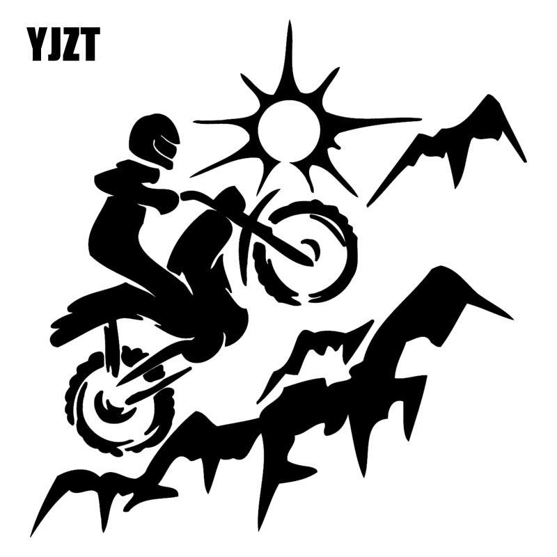 YJZT 17,7 см * 18,4 см грязный велосипед мотокросса модные виниловые наклейки для стайлинга автомобилей наклейки черный/серебристый C31-0299