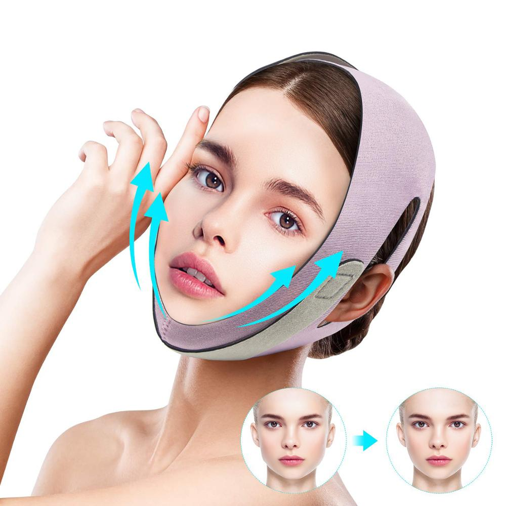 Face V Shaper Facial Slimming Bandage Face Shaper Anti-Wrinkle Remove Tool Reduce Double  Chin Face Thining Band Massage Face недорого