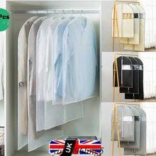 UK Kunststoff Klare Staub-proof Tuch Abdeckung Anzug/Kleid Garment Bag Lagerung Schutz