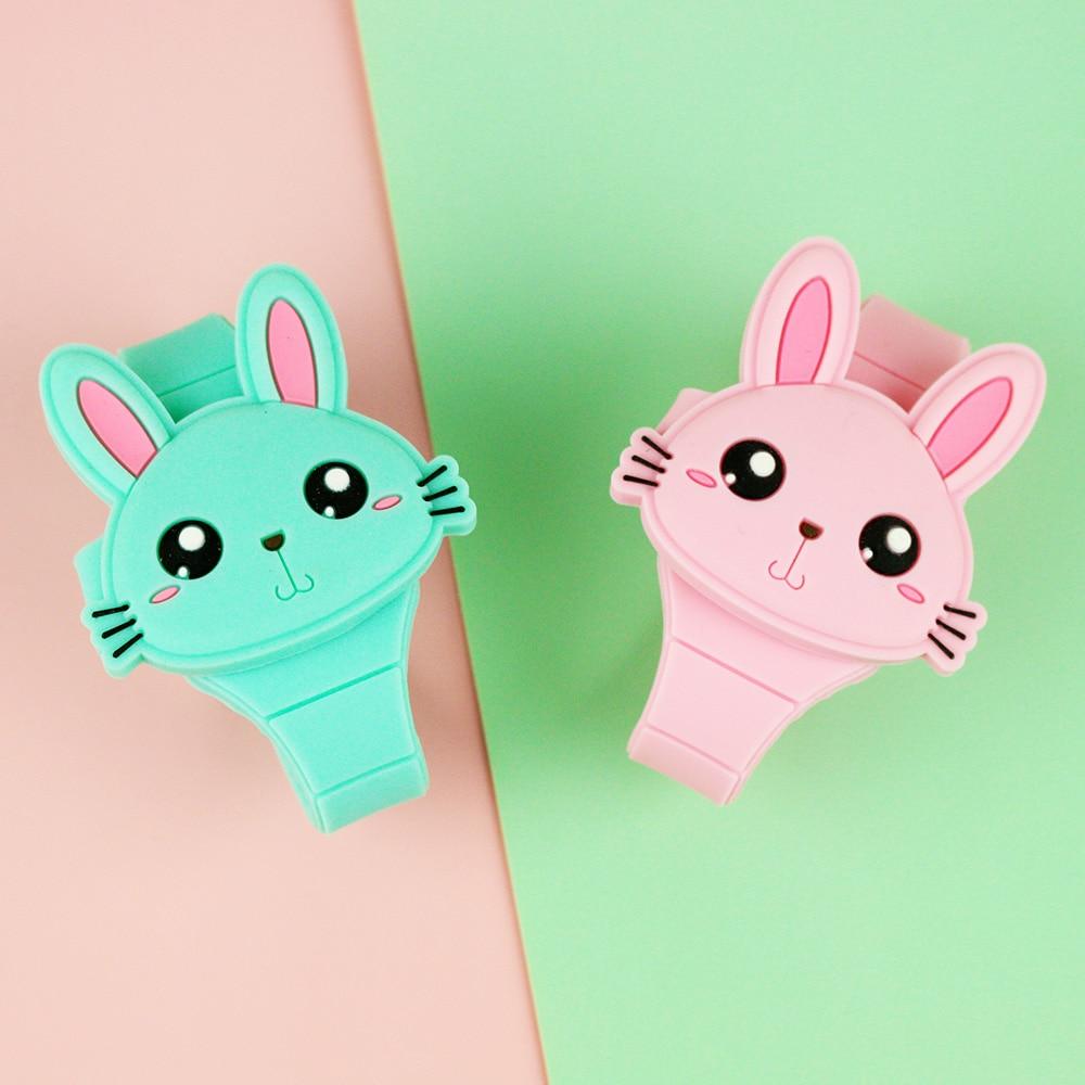 Cute Rabbit Cartoon Kids Watches For Girls Flip Cover Electronic Children Watch Women Student Clock Reloj Infantil Saati