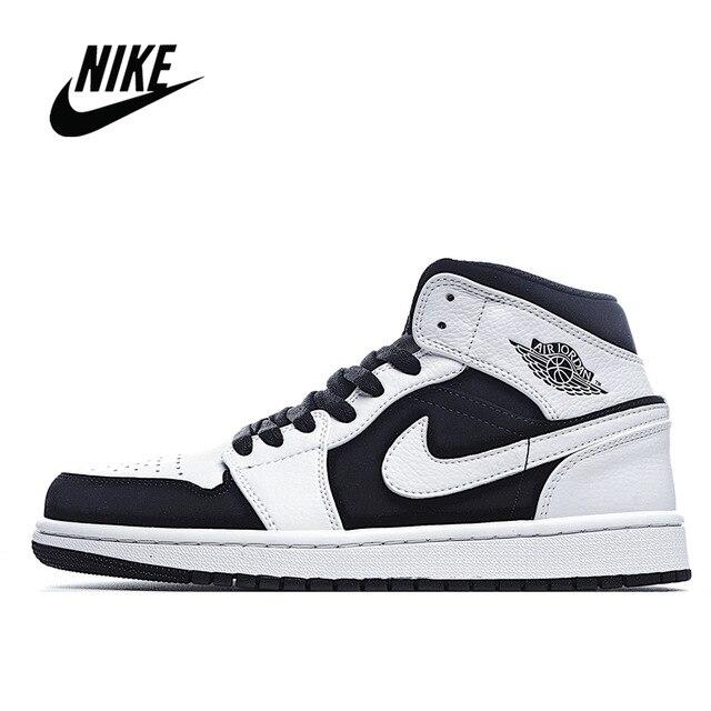 Nike - Air Jordan 1 Sneakers For Men And Women Classic Unisex Black Basketbal Shoes