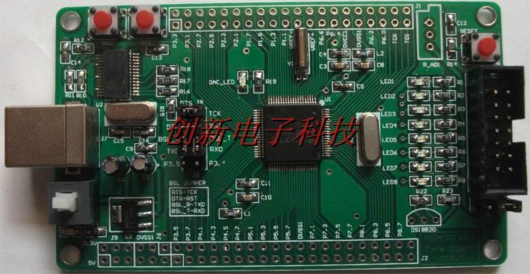 Placa de sistema Msp430f149 Minimal Msp430, placa de desarrollo, interfaz USB, programación USB