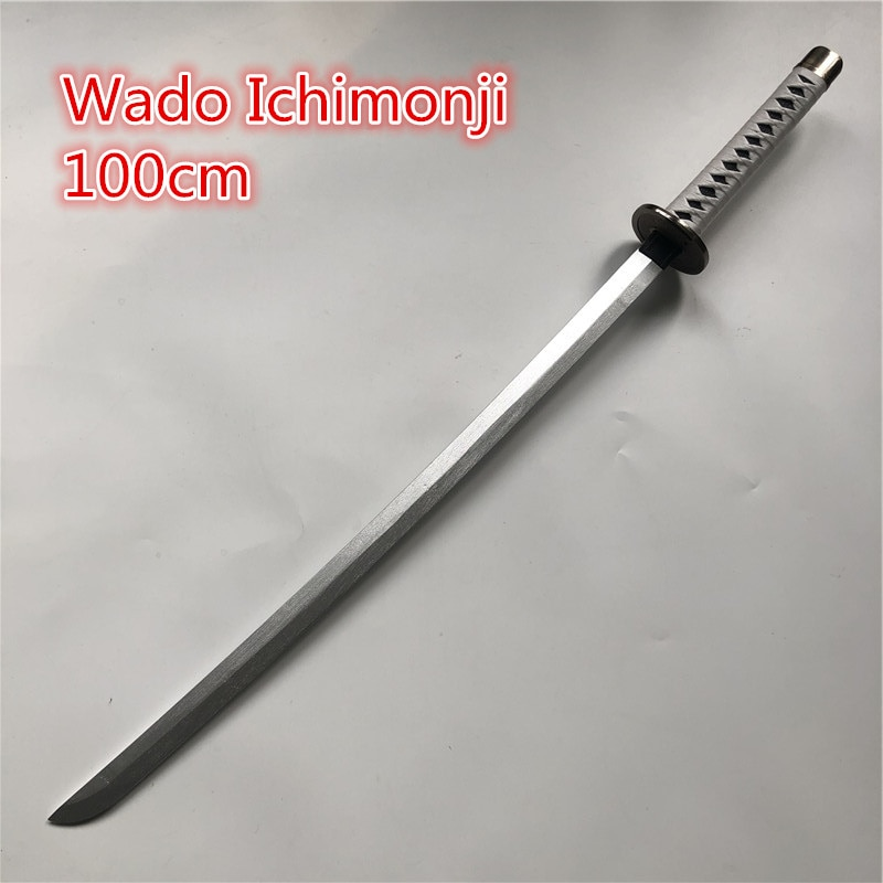رورونوا زورو السيف سلاح خشبي أنيمي تأثيري المسلحة كاتانا إسبادا الخشب النينجا سكين سيف ساموراي الدعامة لعب للمراهقين