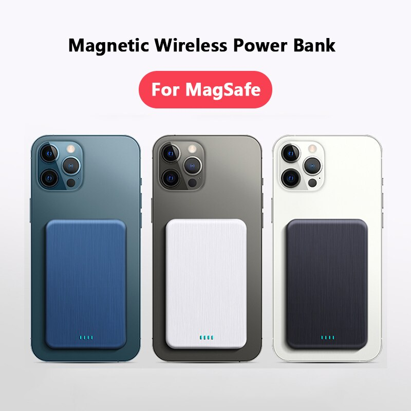 15W Magnetic Wireless Charging Power Bank For Magsafe Charger For iphone 12Pro 12proMax 12mini Magnet External auxiliary Battery