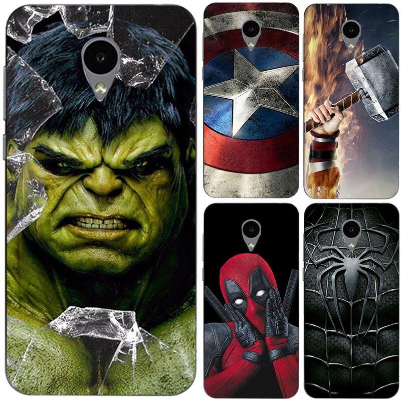 Superhero Phone Case Cover For Alcatel U5 3G 4G HD 5047 Superman Back Cover Bags For Alcatel U5 3G 4047 4G 5044 HD Fundas Shell