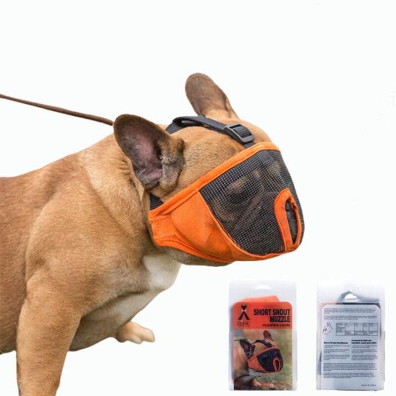 Ardemer cubierta de malla perro bozal Anti mordida máscara de boca ajustable respiratoria Maskory bozal de máscara de suave divertido perro bozal