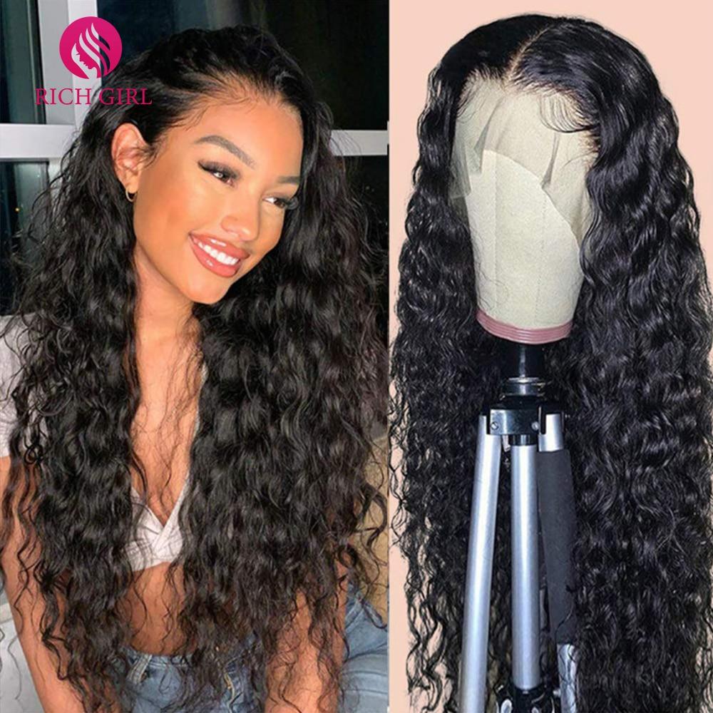 Brazilian Deep Wave Wig 13X6 HD Lace Front Human Hair Wigs For Women Richgirl 4X4 5X5 6X6 Long Inch
