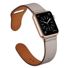 สำหรับApple Watch Iwatch Band 44มม.40มม.42มม.38มม.สำหรับApple Watch 5 4 3 2 1อุปกรณ์เสริมสร้อยข้อมือหนัง