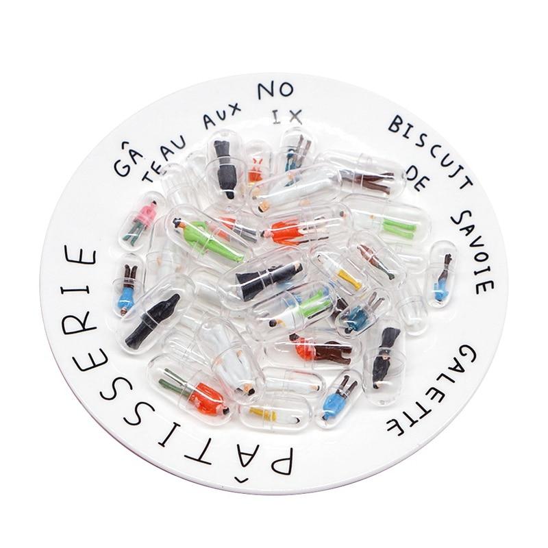 60 uds, contenedor plástico de pastillas de cápsula transparente, cajas de pastillas de medicina, separadores de botellas, cápsulas, figuritas, accesorios Diy