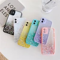 for iphone 12 pro max cases luxury silicon bling glitter sequins fundas on iphone 11 se 2020 7 8 xr x xs 6 6s plus back covers