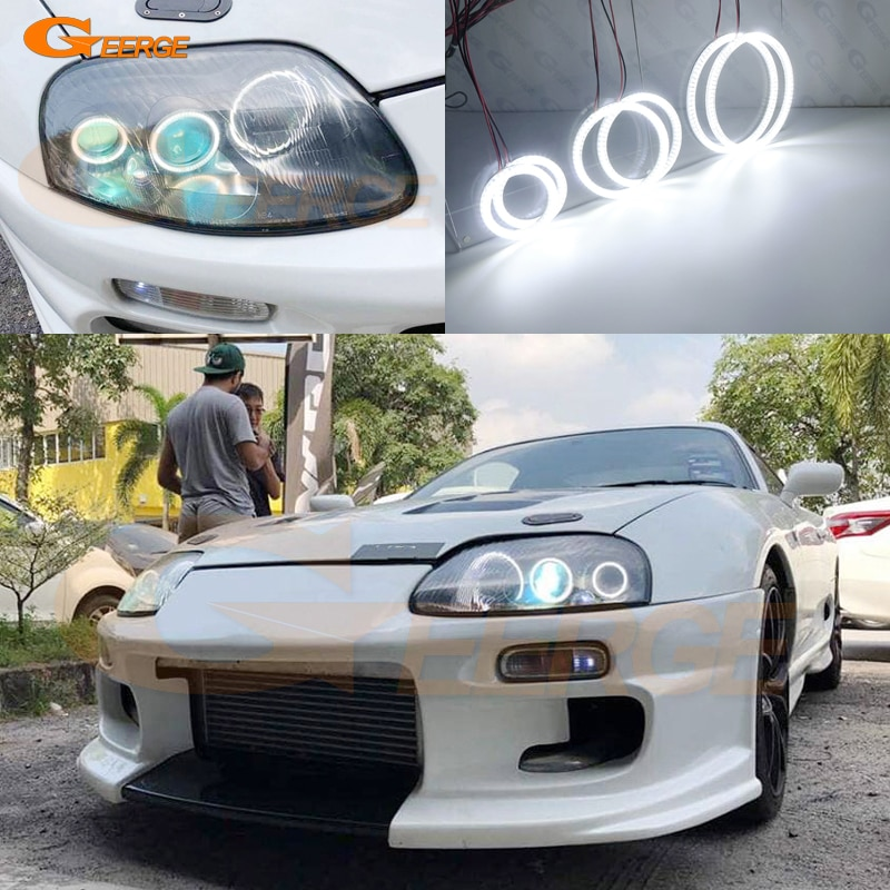For toyota supra MKIV A80 1993-2002 Excellent 6 pcs Super bright SMD led Angel Eyes halo rings Day Light