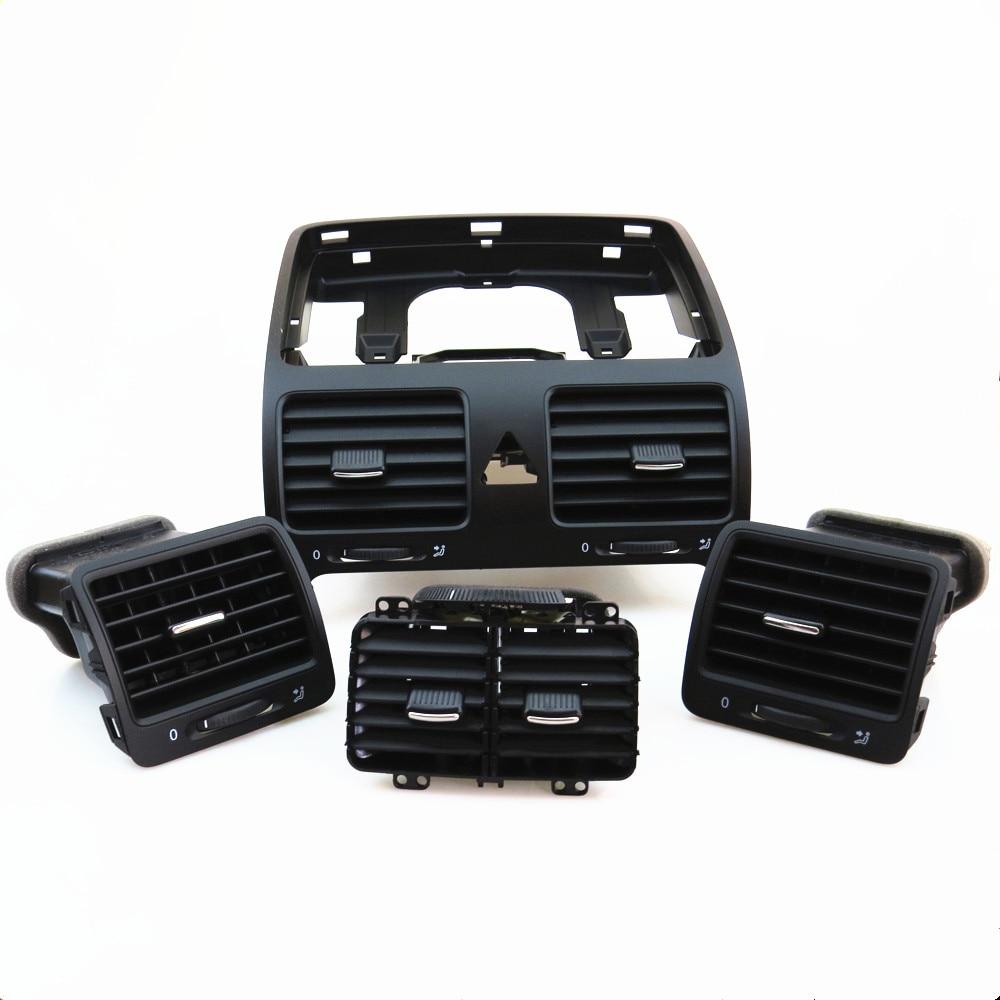 TUKE Qty4 Dashboards Zentrum Klimaanlage Outlet Vent Set Für VW Jetta Golf Kaninchen 1KD 819 728 1KD819203 1KD 819 703 1KD819704