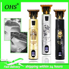 2021 T9 0mm Professional Hair Clipper Beard Trimmer Electric Rechargeable Men Hair Shaver Beard Barb