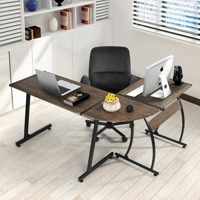 Простой L-образный угловой офисный стол, современный настольный компьютерный стол для ноутбука, стол для домашнего кабинета, письменный сто...