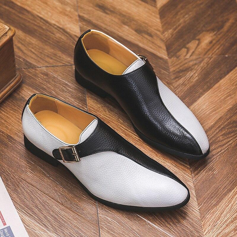 Zapatos planos clásicos De cuero Brogue para hombre, calzado Formal para fiesta,...
