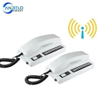 new wireless 2 4ghz 433mhz recharged audio intercom system secure interphone handsets expandable for warehouse office home phone