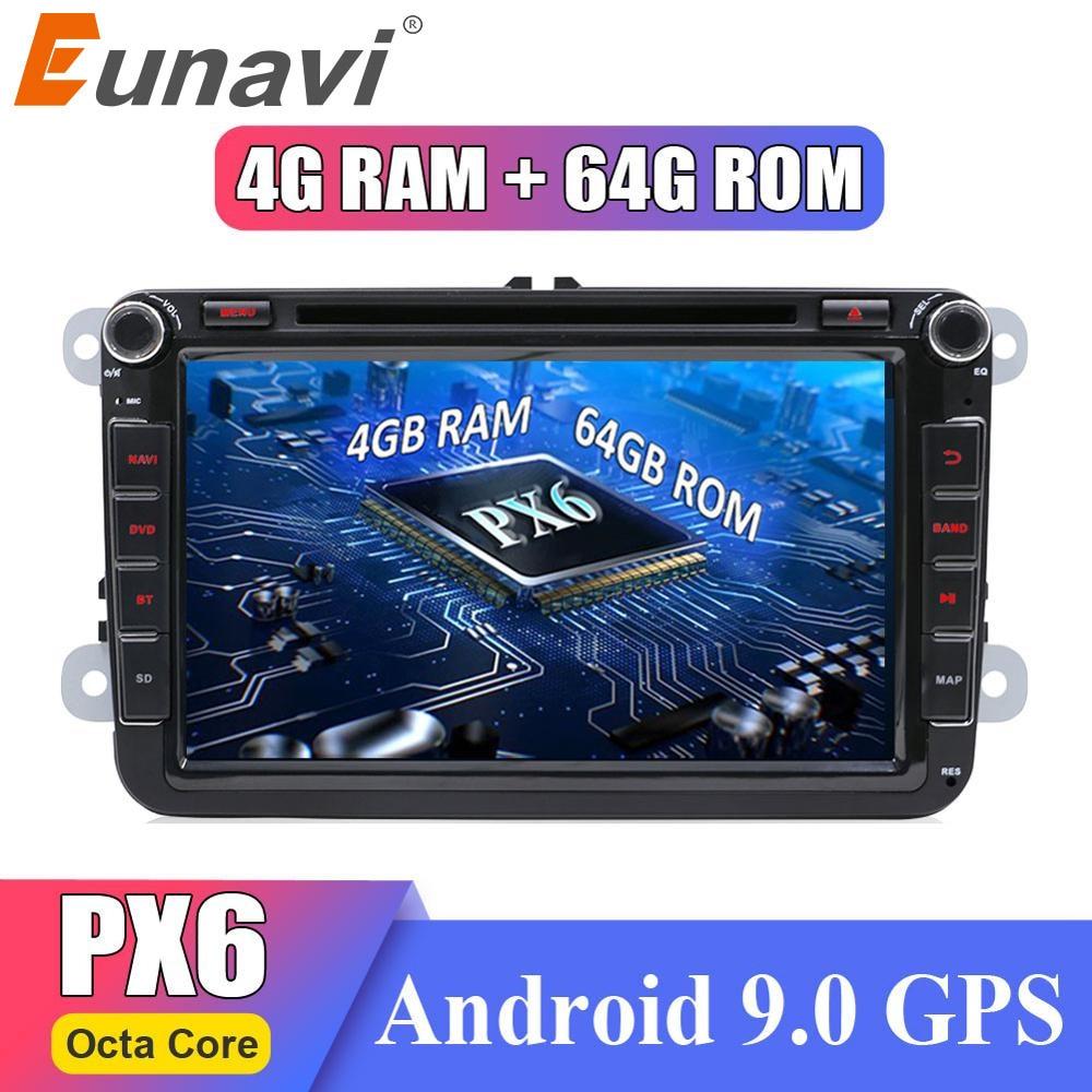 Eunavi 2 din Android Octa Core 4 Гб 64 Гб автомобильный DVD для VW Passat CC Polo GOLF 5 6 Touran EOS T5 Sharan Jetta Tiguan GPS Радио DSP