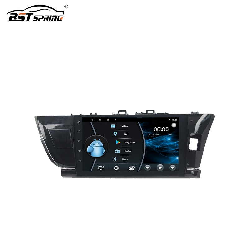 Bosstar Android Car Stereo Multimedia Player Dash Unit Installation Kits for Toyota corolla 2014-2016 Right Handcar audio system