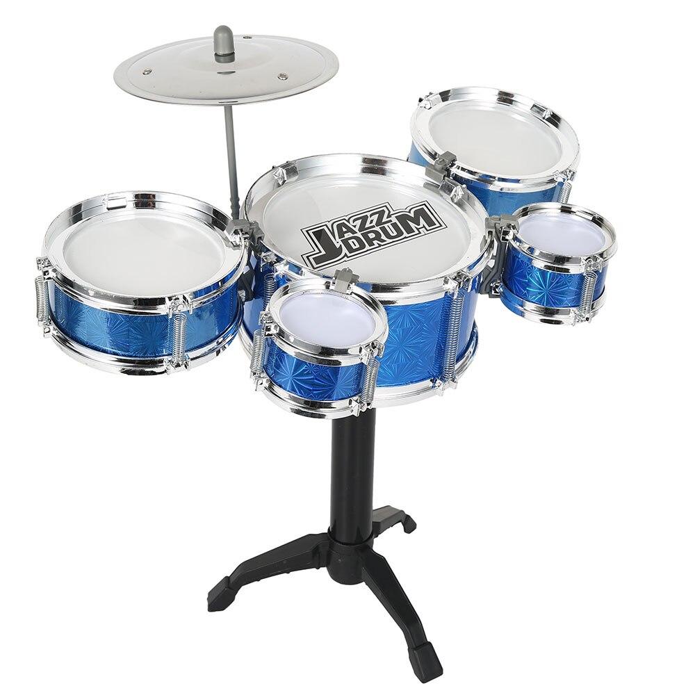 Juego de Batería de Jazz para niños, juego de instrumento educativo Musical, 5 tambores + 1 platillo con palitos de tambor pequeños para regalo de cumpleaños