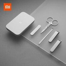 Xiaomi mijia-ポータブル爪切りセット,5個,マニキュアとペディキュア,磁気吸収,ステンレス鋼