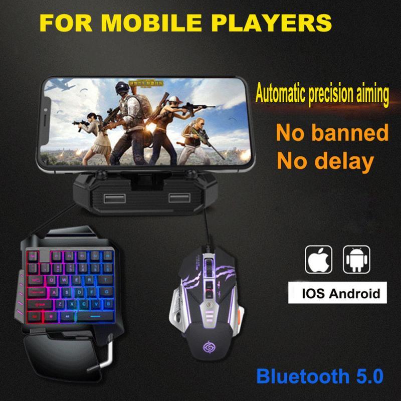 Pubg Bluetooth móvil 5,0 para Android PUBG controlador móvil Gamer Gaming teclado conversor de ratón para IOS/Android/PC