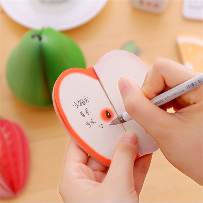 1 pack/lote Kawaii frutas Korean Sticky planificador de notas pegatinas Bureau Accessoires...