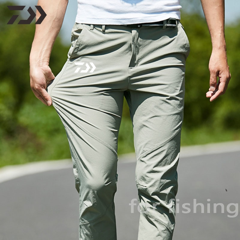 Daiwa Fishing Clothing New Summer Mesh Ice Silk Casual Sports Pants for Fishing Wear Solid Outdoor Q