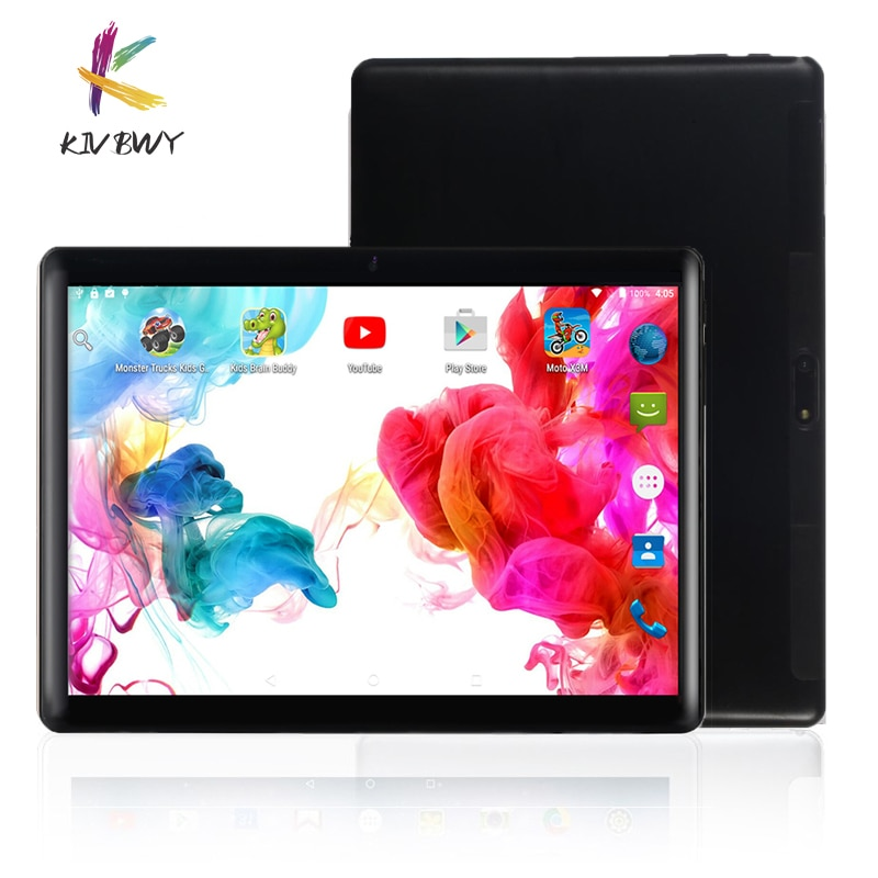 KIVBWY Ready stock Tablets 10.1 inch 2GB+32GB Android8.0 Octa Core 4G LTE Tablet Pc Google Play Dual SIM Card GPS WiFi Bluetooth 10 1 inch octa core android 9 0 tablets 4g lte phone call tablet pc 2gb ram 32gb rom wifi google play gps dual sim card 1280 800