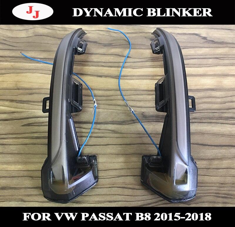 Luz de señal de giro dinámica para VW Passat B8 GT 2015-2018 artefacto 2017 2018 espejo retrovisor indicador LED