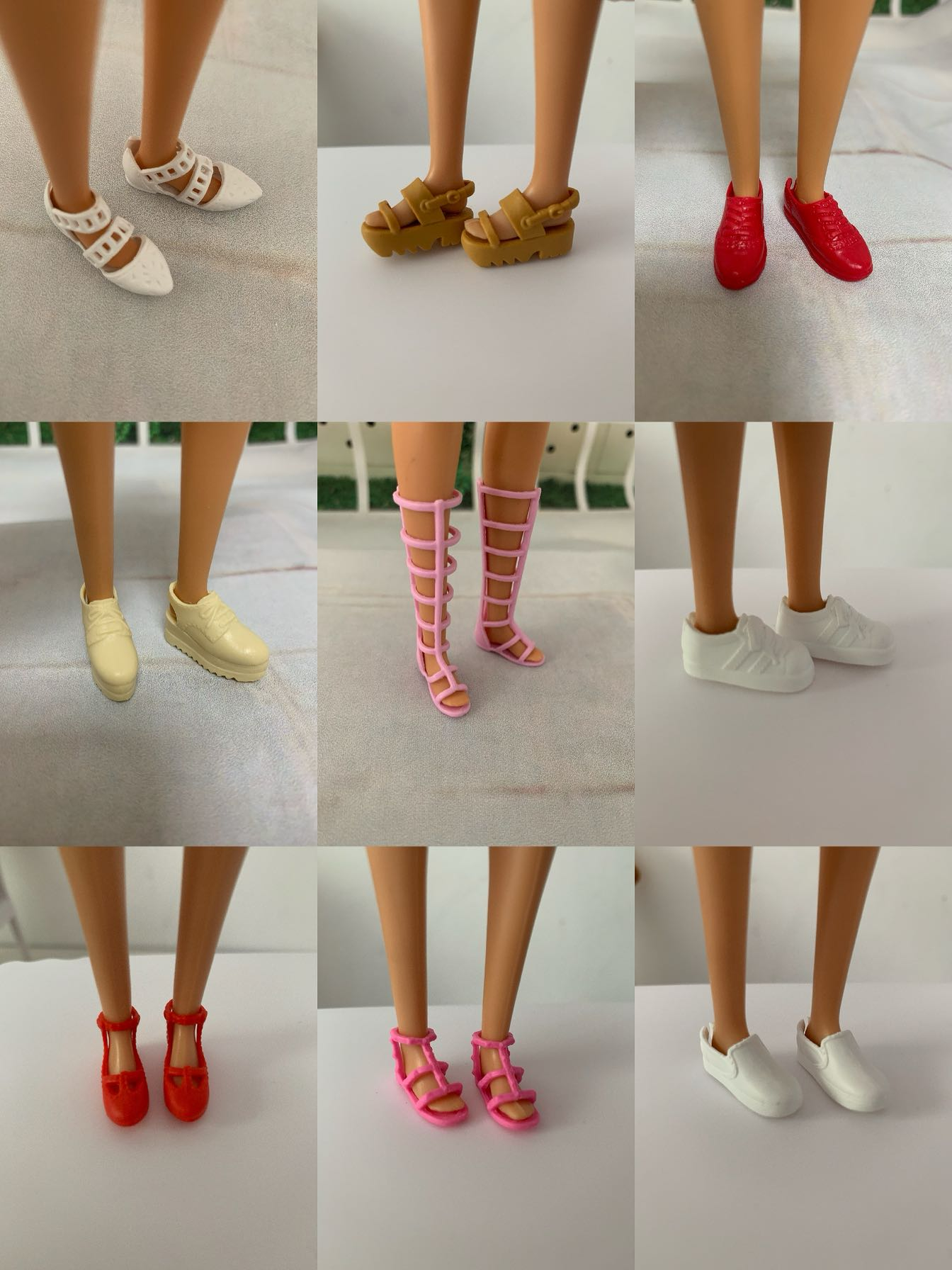 Sandalias de tacón alto de estilo mixto para muñeca Barbie, surtido de...