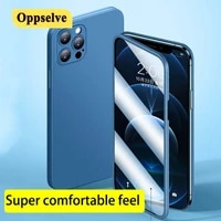 for iphone 12 case new 360%c2%b0 all around lens protect toughened glass cover for iphone 12pro max 12 coque mobile phone soft cover