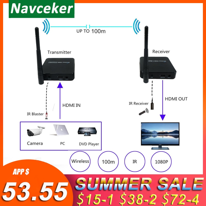 ZY-DT216 5GHz البث اللاسلكي نظام اللاسلكي HDMI موسع الارسال استقبال الفيديو WIFI 100m اللاسلكية HDMI المرسل كيت
